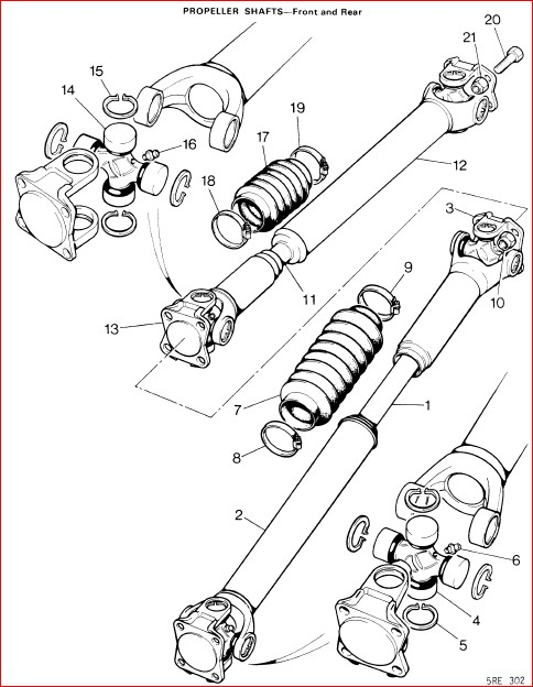 prop shaft universal joint  pattern